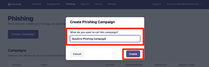 QSG Phishing Campaign Title