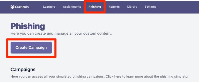 QSG Phishing Create